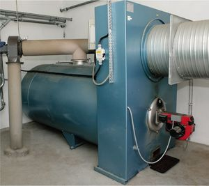 oil-fired hot air generator / for grain storage