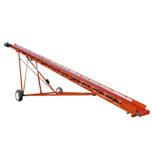 hay bale conveyor / chain / mobile / inclined