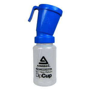 non-return teat dip cup