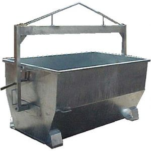 metal waste container / for carcasses