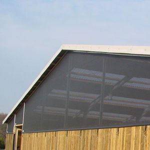wind protection netting / shade / for farm buildings