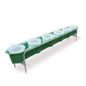 cattle trough / for sheep / polyethylene / galvanized steel