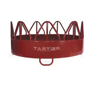 horse hay rack / metal / floor-mounted / circular