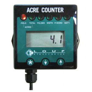 acre meter / portable / compact / for tractors