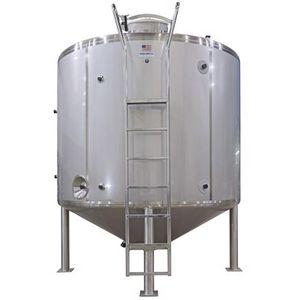 milk tank / cone-bottom / stainless steel / steel