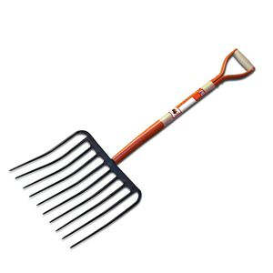 spading pitchfork with wooden handle / with metal handle