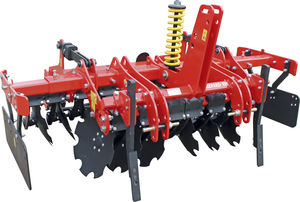 mounted disc cultivator / 2-section / with roller / 3-point hitch
