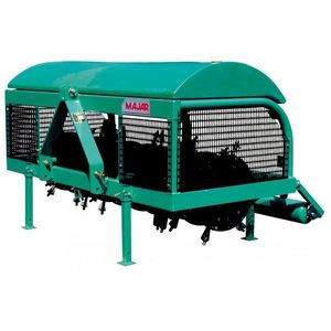 tractor-mounted soil aerator