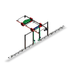 greenhouse irrigation booms / hose-fed / suspended / double-rail
