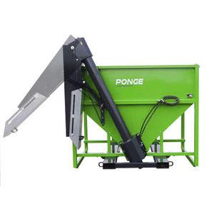 cattle manual feeding system / hopper / bucket / tractor-mounted