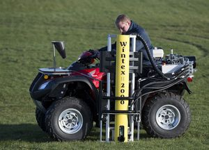 ATV-mounted soil sampler / hydraulically-operated / automatic