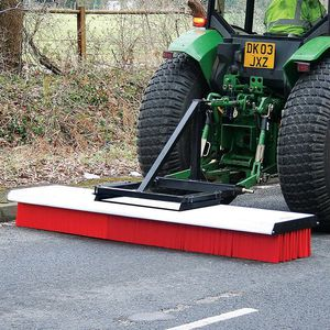 tractor-mounted broom