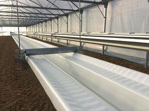 galvanized steel irrigation gutter