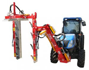 vineyard trimming machine / tractor-mounted / hydraulic / vertical