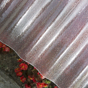 fiberglass-reinforced polyester roofing panel / for greenhouse / corrugated / with UV protection