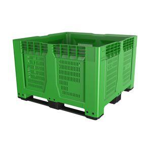ventilated pallet box / vegetable / fruit / plastic
