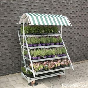 display shelving / for horticulture / metal