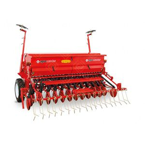 mechanical seed drill / double-disc / with disc harrow