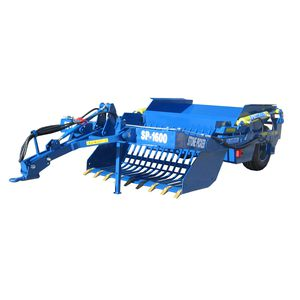 tractor rock picker / unload to trailer