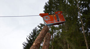 forestry hoist carriage / for cable transport / motorized
