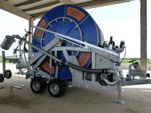 manure hose reel / turbine-drive