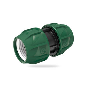 straight compression irrigation fitting / threaded / polypropylene / male