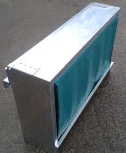 calf trough / galvanized steel / multi-access / wall-mounted