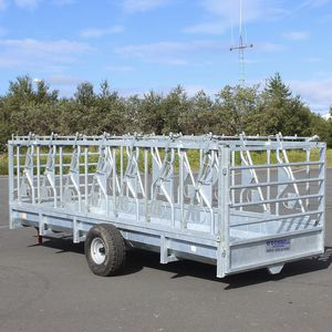 cattle hay rack / steel / multi-access / trailer-mounted