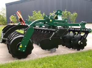 semi-mounted field cultivator / with roller / folding / 3-point hitch