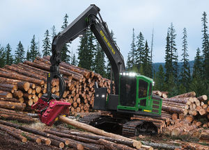 tracked log loader / knuckle boom