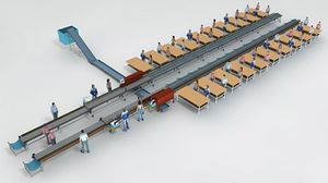 semi-automatic handling system / for cut flowers
