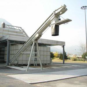 stationary unloading station