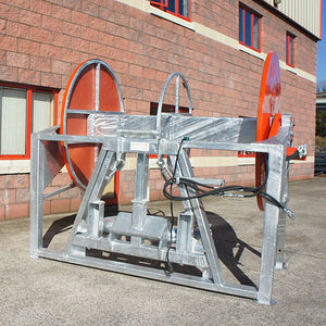 manure hose reel / tractor-mounted