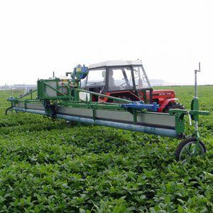 herbicide wick weeder / tractor-mounted