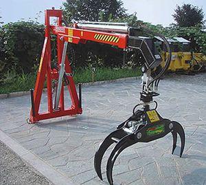 tractor-mounted log loader