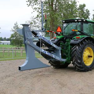 tractor-mounted drainage plow