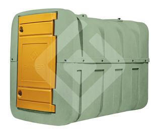 liquid fertilizer tank / horizontal / plastic / UV-resistant