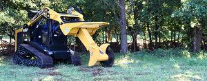 skid steer loader rotating tree saw