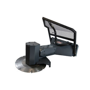 skid steer loader rotating tree saw