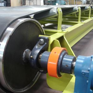 grain conveyor / for trolleys / belt