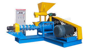 dry feed extruder / single-screw / fish / for aquaculture