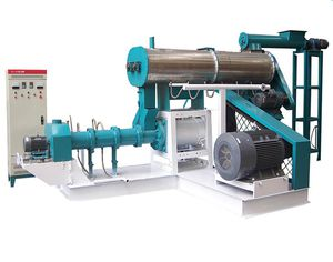 wet feed extruder / single-screw / fish / for aquaculture
