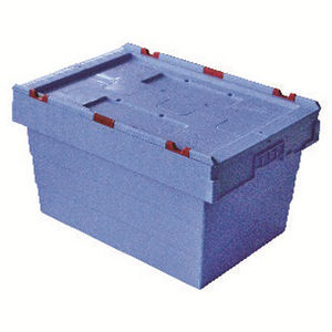 fish crate / plastic / stacking / for aquaculture