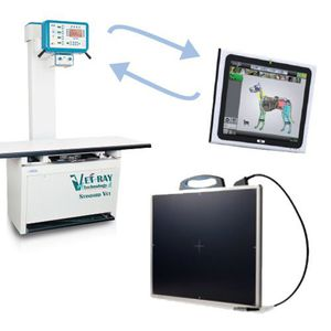 veterinary radiography flat panel detector / 14 x 17 / 17 x 17 / direct conversion