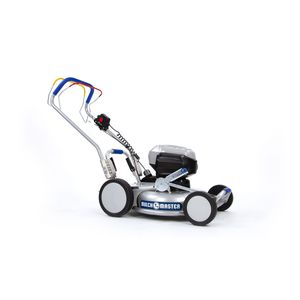 push lawn-mower / battery-powered / self-propelled / for sloped terrain