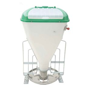 pig hopper feeder / plastic / stainless steel / galvanized steel