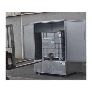 drum collection tray / for hazardous fluids / galvanized steel