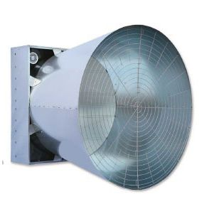 farm building fan / extraction / wall-mounted / panel