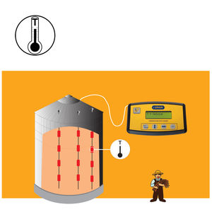 grain monitoring system / for silos / for farm machinery / for agriculture
