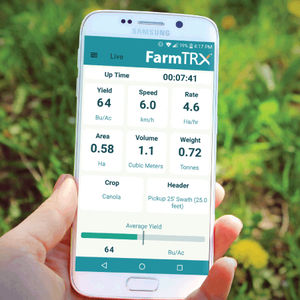 harvesting mobile app / data display systems / statistical analysis / real-time